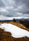 Snowy stormy mountains Royalty Free Stock Photos