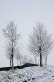 Snowy-Straße Stockfoto