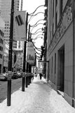 Snowy-Straßen Stockbilder