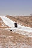 Snowy-Straßenbuggy Lizenzfreies Stockbild