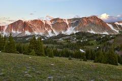 Snowy-Strecke, Wyoming stockbild