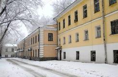 Snowy street Stock Image