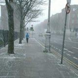 Snowy Street. In Dublin Royalty Free Stock Photos