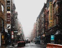 New York City Snowy Streets royalty free stock photo
