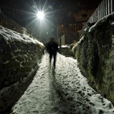 Snowy street Stock Images