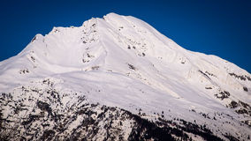 Snowy summit Stock Image