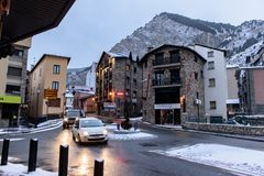 Free Snowy Sunrise In The Town Of Canillo In Winter. Canillo, Andorra Royalty Free Stock Photography - 137178097