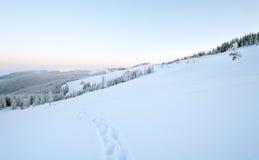 Snowy sunrise landscape Royalty Free Stock Image