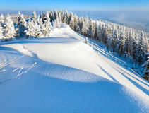 Snowy sunrise landscape Royalty Free Stock Images