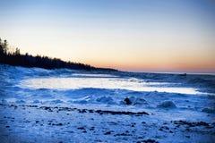 Snowy Sunset Stock Photos