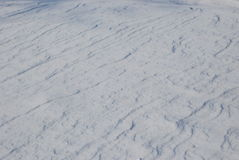 Snowy surface. A snowy surface in winter Stock Photography