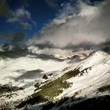 Snowy swiss mountains Stock Image
