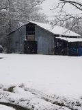 Snowy-Tag im Land stockfoto