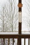 Snowy-Tag im Winter stockfoto