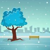 Snowy-Tag von Januar Lizenzfreies Stockbild