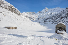 Snowy-Tal Lizenzfreie Stockfotografie