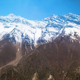 Snowy Tibetan mountains Stock Photo