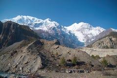 Snowy-Tibetanerberge Lizenzfreies Stockfoto