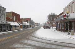 Snowy Town Stock Photography