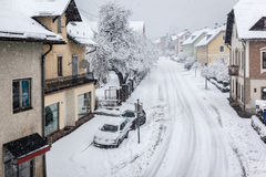 Snowy town Royalty Free Stock Image