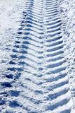 Snowy track royalty free stock photos