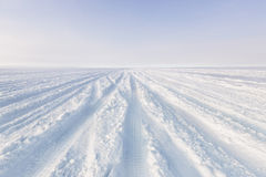 Snowy tracks Royalty Free Stock Photography