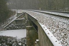 Snowy Tracks Royalty Free Stock Photography