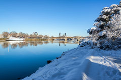 Snowy Trail in Portland Stock Photography