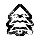 Snowy tree icon. A creative illustrated snowy tree icon image stock illustration