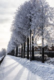 Winter quay. Yaroslavl, Russia Royalty Free Stock Image