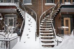 Snowy-Treppe Stockbilder