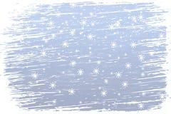 Snowy und windiger Winter stock abbildung