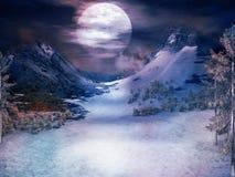 Snowy valley Stock Photo