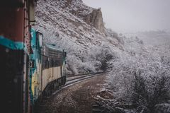 Free Snowy Verde Canyon Railroad Stock Image - 112167101