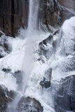 Snowy Vernal Falls. Snow covered Vernal Falls, Yosemite Stock Photo