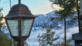 Snowy view stock photography