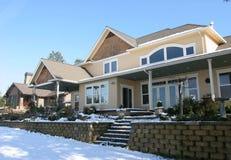 Snowy-Villa Stockfotos