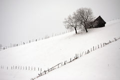 Snowy village Royalty Free Stock Photography