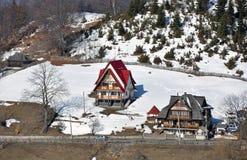 Snowy village Royalty Free Stock Photos