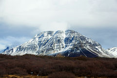 Snowy volcanic landscape on the Snaefellsnes peninsula Royalty Free Stock Images