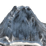 Snowy volcano on an isolated white background .3d illustration, rendering Stock Photos