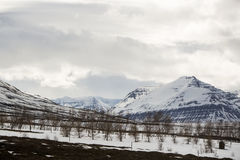 Snowy volcano mountain landscape in Iceland Stock Photo