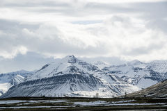 Snowy volcano mountain landscape in Iceland Stock Image