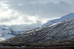 Snowy volcano mountain landscape in Iceland Stock Photos