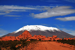 Snowy Vulcano Royalty Free Stock Images