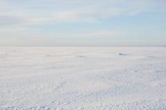 Snowy-Wüste lizenzfreie stockfotos
