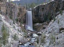 Snowy waterfall Stock Photography