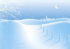 Snowy-Weg-Haus Lizenzfreies Stockbild