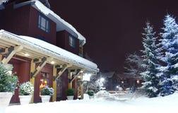 Snowy-Weihnachten Stockbilder