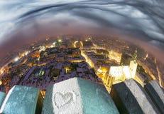 Snowy-Weihnachten Lemberg Stockbild